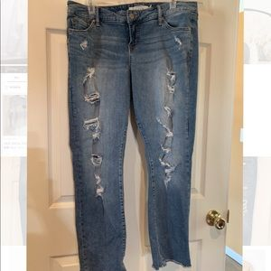TORRID SIZE 10 RIPPED JEANS